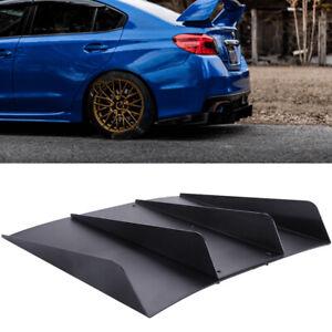 """For Subaru WRX/STI Rear Diffuser Bumper Fins Spoiler Splitter Lip Black 22""""x 20"""""""