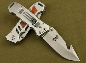 Survival Folding Pocket Hunting Knife Survival Military Outdoor Fishing