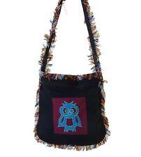 Fringe Bag With Owl Ethno Hippie Shoulder Bag
