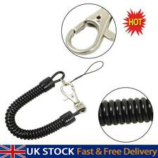 1 X Spiral Key Chain Retractable Clip On Ring Stretchy Coil Spring Keyring UK