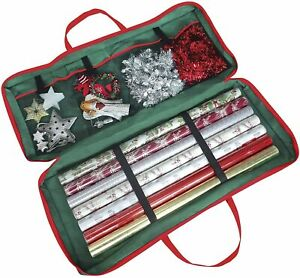 Fabric Gift Wrapping Paper Storage Bag for Christmas / Birthday Gift Wrap Rolls