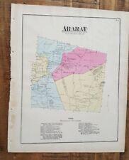 ANTIQUE Colored Map ARARAT, PENNSYLVANIA / A. Pomeroy & Co. 1872