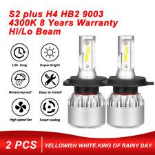2x COB H4 9003 LED Headlight Kit 1500W 225000LM Hi/Low Beam Bulb 4300K Lamp