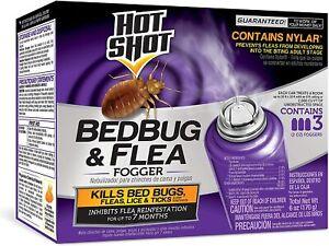 Bed Bug Killer Hot Shot & Flea Insect Fogger 3 Sprays Trap Bomb