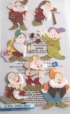 EK SUCCESS DISNEY 7 SEVEN DWARFS Snow White Fairy Tale Scrapbook Craft Stickers