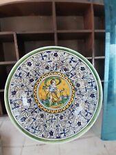 Piatto Antico Ceramica Maiolica Italiana
