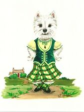 1.5x2 DOLLHOUSE MINIATURE PRINT OF PAINTING RYTA 1:12 SCALE WESTIE EASTER SUNDAY