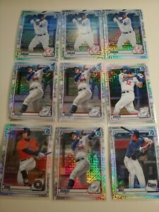 2020 Bowman Chrome 1st Bowman Refractor Cards - 9 Cards