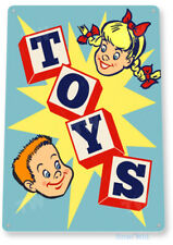 TIN SIGN Toy Box Play House Play Room Children's Toys Sign A180