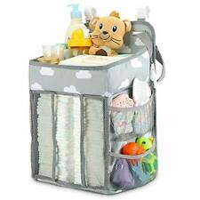 Hanging Diaper Caddy Organizer - Diaper Stacker for Changing Table, Crib, Playar