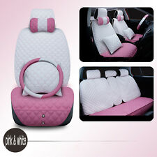 Lady Full Surround Car Seat Cover Set Steering Wheel Cover Multi-color Cushion