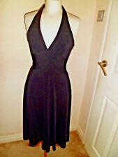 COAST Black Halterneck DRESS UK 8 Worn Once STUNNING