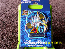 Disney * 2016 Dated - Tinker Bell & Castle * New on Card WDW Trading Pin
