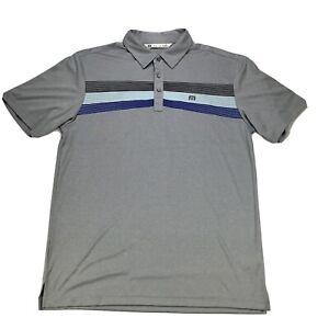 Travis Mathew Mens Shirt Large Gray Golf Short Sleeve Collared Polo Craig Ranch