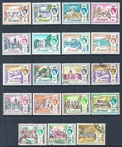 BERMUDA 1962-654 QEII Mint and Used Issues Group to £1 (May 229)