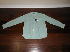 NWT RALPH LAUREN Custom Fit Gingham Dress Casual Shirt Size XL Green/Pink $125!
