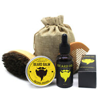 Beard Care Kit Tool Set Grooming Balm Oil Mustache Products Supplies Travel h8lA