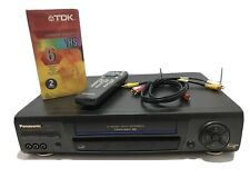 Panasonic Pv-8661 Vcr 4 Head Hifi with Remote, Cables & Sealed Vhs Tapes