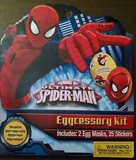 Marvel Ultimate Spider-Man Eggcessory Accessory Sticker Craft Kit 27 Pcs New