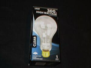 Feit Electric 300 WATT CLEAR LIGHT BULB STANDARD BASE 120 v PS25 3900 LUMENS NEW
