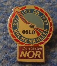 HOLMENKOLLEN OLYMPIC SKI JUMPS 105 ANNIVERSARY /1892-1997/ PIN BADGE
