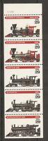 US SC # 2847a American Steam Locomotives. Unfolded. MNH