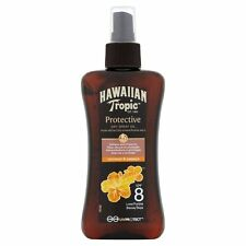 Genuine Hawaiian Tropic WATER RESISTANT Dry Spray SUN OIL SPF8 with Aloe Vera