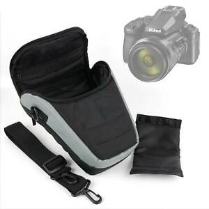 Black & Grey & Shoulder Bag / Travel Case For Nikon Coolpix P900 / P950