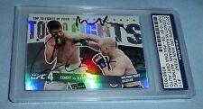 Carlos Condit Martin Kampmann Signed 2010 Topps Main Event Card #11 PSA/DNA UFC