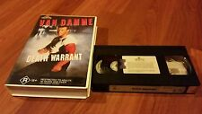 DEATH WARRANT - VAN DAMME - RATED R -  VIDEO VHS