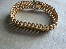 Bracelet ancien maille plaqué or poinçonné