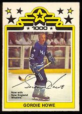 1977-78 OPC O PEE CHEE WHA #1 GORDIE HOWE NM HOUSTON AEROS 1000 GOAL HOCKEY CARD
