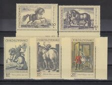 TIMBRE STAMP 5 TCHECOSLOVIE Y&T#1717-21 ART CHEVAL HORSE NEUF**/MNH-MINT ~B45