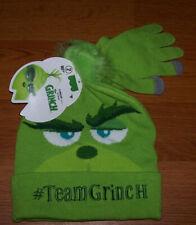 One Size Unisex Child Dr. Suess the Grinch  Hat & Glove Set 2-Piece