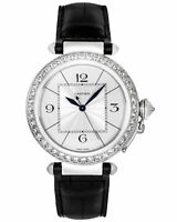 Cartier Pasha Diamond 18K White Gold Automatic Men's Watch WJ120251