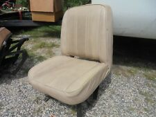 1976-86 JEEP CJ WHITE FACTORY LOW BACK DRIVERS SEAT WITH BRACKETS/SLIDERS