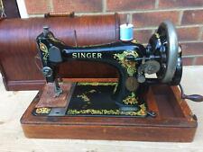 "Antique Singer Sewing Machine Model 128K With ""La Vencedora"" Decals."