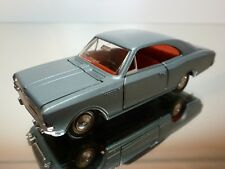 DINKY TOYS 1405 OPEL REKORD COUPE 1900 - BLUE METALLIC 1:43 - GOOD CONDITION