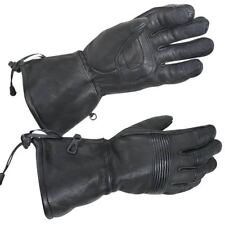 Xelement MEDIUM Deerskin Insulated Motorcycle Gauntlet Gloves MADE IN THE USA