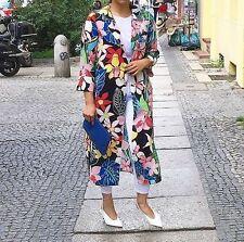 Zara Tropical Floral Print Overshirt Jacket Kimono Sz S Smal 8-10 ref  2716/484