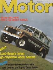 Motor magazine 12/3/1983 featuring Vauxhall road test, Land Rover, Isdera