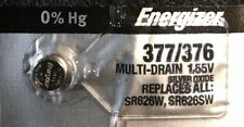 1 Energizer 377/376  Watch Battery  SR626SW  SR626W V377 Authorized seller.