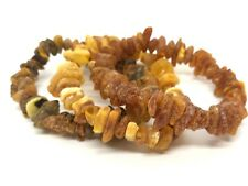 Lot 3 Natural Baltic Amber Raw rough unpolished healing bracelet 29,5 gr #2734