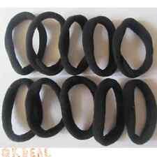 Vente chaud ! 10 pièces ensemble élastiques bandeau à cheveux Noir pour filles