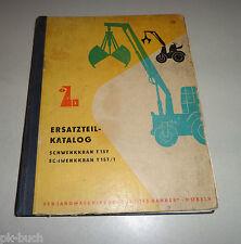 Catalogo parti T 157/T 157/1 inclinazione gru paese ingegneria meccanica IENNERSDORF