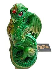 Windstone Editions Sitting/Young Dragon Emerald Green Pena Figurine Rare w/Tag