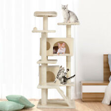 143cm Cat Tree Condo Tower With Scratching Post Pet House Activity Center UK