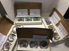 Collection of 12 Lena Liu Basket Bouquets Miniature Plates in (4) Boxes 1994 /95