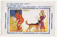 Is That Your Dog Lady 1937 Bamforth 3182 Comic Postcard 727b