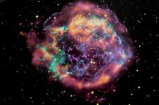 Black Light Reactive Space Poster of the Cassiopeia Supernova 16x24 inches